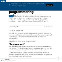 Här lär sig småbarn programmering