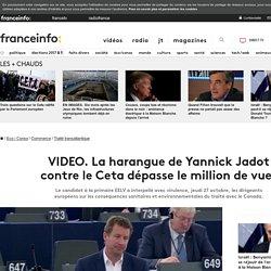 La harangue de Yannick Jadot contre le Ceta dépasse le million de vues