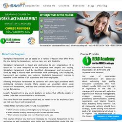 Workplace Harassment Training Online Course