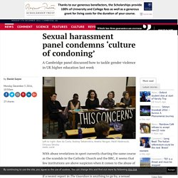 Sexual harassment panel condemns 'culture of condoning'