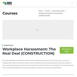 Workplace Harassment The Real Deal CONSTRUCTION