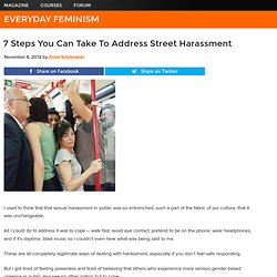 7 Steps You Can Take To Address Street Harassment