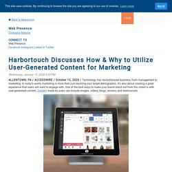 Harbortouch Discusses How & Why to Utilize User-Generated Content for Marketing