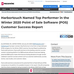 Harbortouch Named Top Performer in the Winter 2020 Point of Sale Software (POS) Customer Success Report