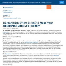 Harbortouch Offers 3 Tips to Make Your Restaurant More Eco-Friendly
