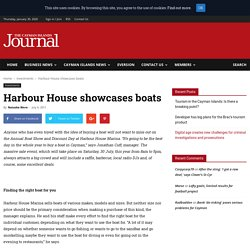 Harbour House showcases boats