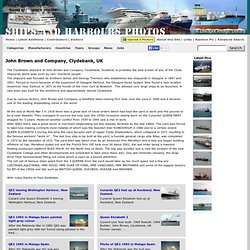 Ships and Harbours Photos - John Brown and Company, Clydebank, UK