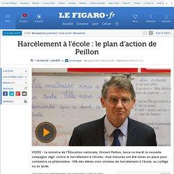 Harcèlement à l'école : le plan d'action de Peillon