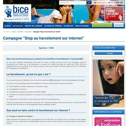 Campagne Stop au harcèlement sur Internet