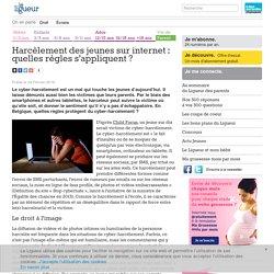 Harcèlement des jeunes sur internet : quelles règles s'appliquent ?