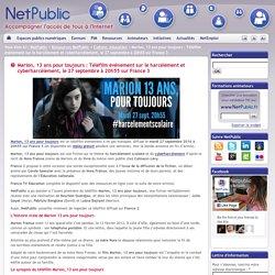 Marion, 13 ans pour toujours : Téléfilm événement sur le harcèlement et cyberharcèlement, le 27 septembre à 20h55 sur France 3