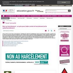 Non au harcèlement : un prix pour lutter contre le harcèlement et le cyberharcèlement