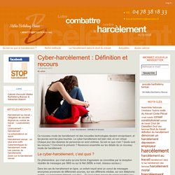 Cyber-harcèlement : Définition et recours