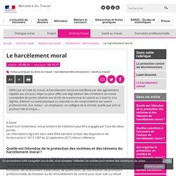 Le harcèlement moral - Harcèlement - discrimination