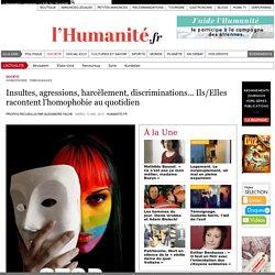 Insultes, agressions, harcèlement, discriminations... Ils/Elles racontent l'homophobie au quotidien
