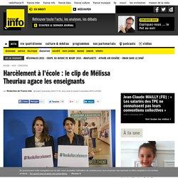 Harcèlement à l'école : le clip de Mélissa Theuriau agace les enseignants