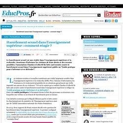 Harcèlement sexuel dans l'enseignement supérieur : comment réagir ?