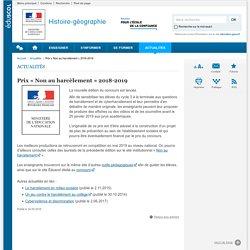 Prix « Non au harcèlement » 2018-2019-Histoire-géographie-Éduscol