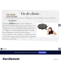 Harcèlement by Mme Guérin on Genially