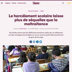 Le harcèlement scolaire laisse plus de séquelles que la maltraitance