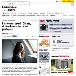 Harcèlement sexuel: Clarisse, victime d'une «aberration juridique»