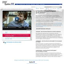 Le harcèlement psychologique ça se prévient ! - Commission des normes du travail du Québec