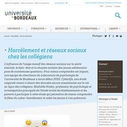 Harcèlement et réseaux sociaux chez les collégiens