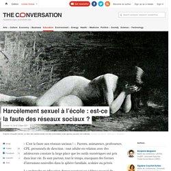 Harcèlement sexuel à l'école: est-ce lafaute desréseauxsociaux?