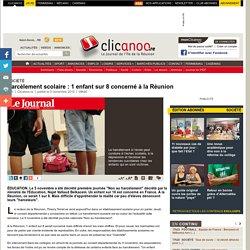 Harc lement scolaire: 1 enfant sur 8 concern la R union - Soci t