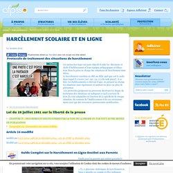 Harcèlement scolaire et en ligne
