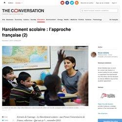 Harcèlement scolaire : l'approche française (2)
