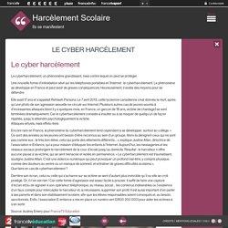 Le cyber harcèlement - Harcèlement scolaire - Francetv.fr