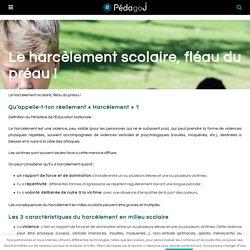 Le harcèlement scolaire, fléau du préau !...