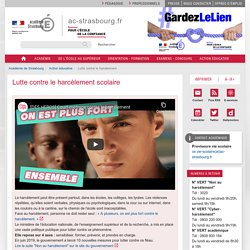 Lutte contre le harcèlement scolaire- académie de Strasbourg
