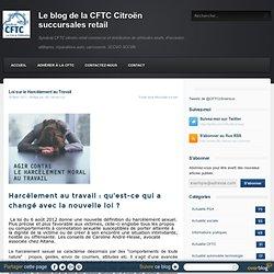 Loi sur le Harcèlement au Travail - Le blog de cftc-citroen-suc