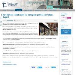 Harcèlement sexiste dans les transports publics (Christiane Dupart)