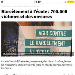 Harcèlement à l'école : 700.000 victimes et des mesures - 6 février 2015