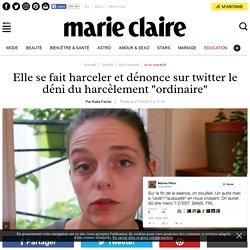 """Elle se fait harceler et dénonce sur twitter le déni du harcèlement """"ordinaire"""""""