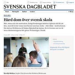 Hård dom över svensk skola