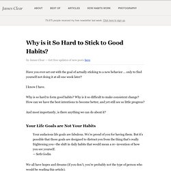 Why is it So Hard to Stick to Good Habits?