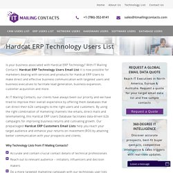 Hardcat ERP Technology Users List