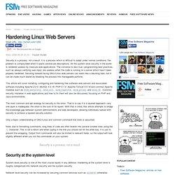 Hardening Linux Web Servers