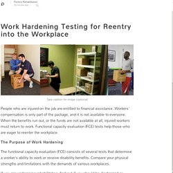 Work Hardening Testing for Reentry into the Workplace