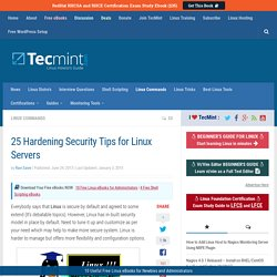 25 Hardening Security Tips for Linux Servers