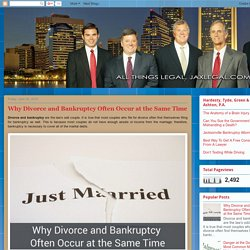 How Divorce Leads to Bankruptcy