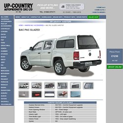 VW Amarok Hardtops - Road Ranger Bac Pac Glazed Hardtop - Amarok PickUp Accessories and Canopies