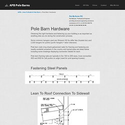 Pole Barn Hardware » Pole Barn Nails » Application Details