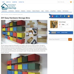 DIY Easy Hardware Storage Bins