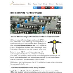 Learn about Bitcoin mining hardware – What is Bitcoin Mining? – Become the best Bitcoin miner and learn how to mine Bitcoins with the best Bitcoin mining hardware, software, pools and cloud mining.
