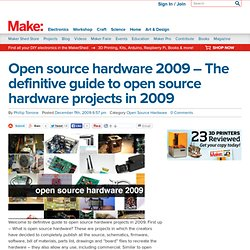 Online : Open source hardware 2009 - The definitive guide